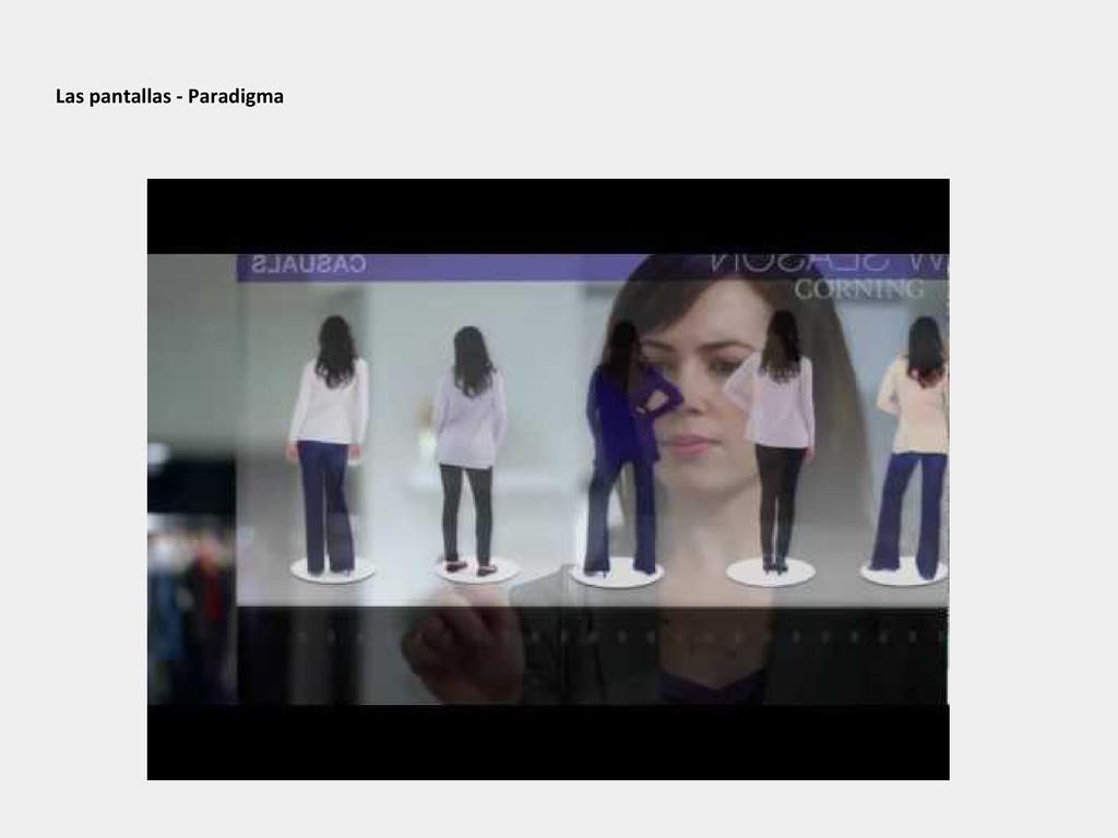 Las pantallas - Paradigma