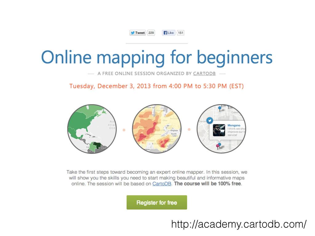 http://academy.cartodb.com/