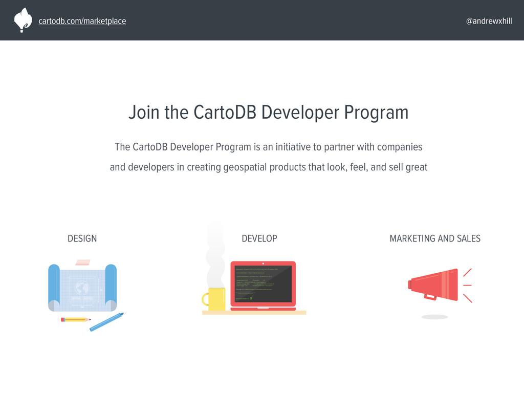 @andrewxhill Join the CartoDB Developer Program...