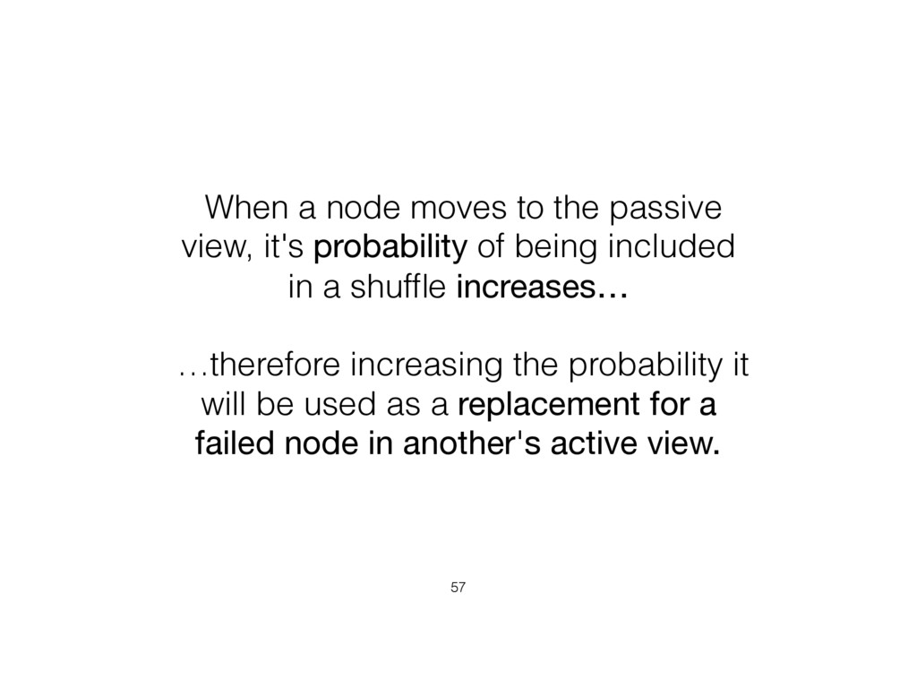 When a node moves to the passive view, it's pro...