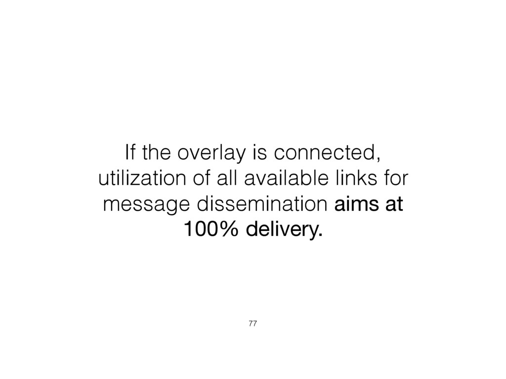 If the overlay is connected, utilization of all...