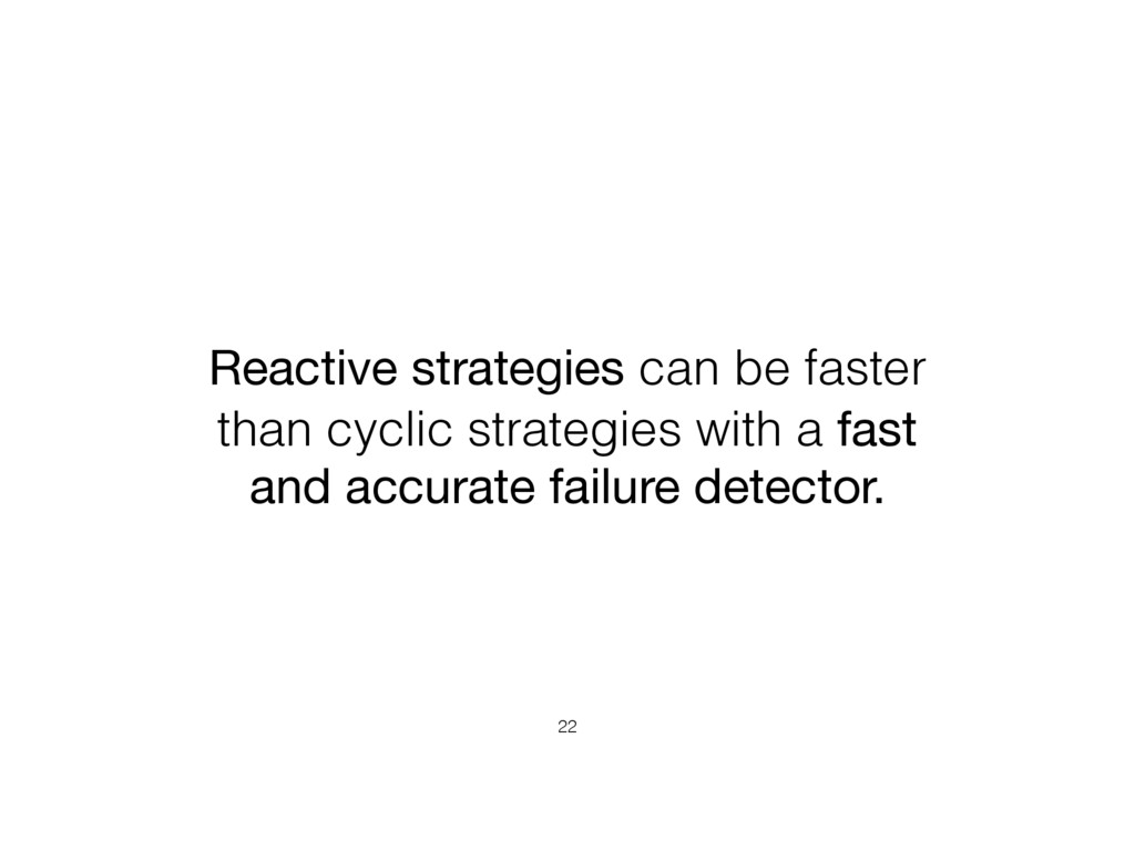Reactive strategies can be faster than cyclic s...