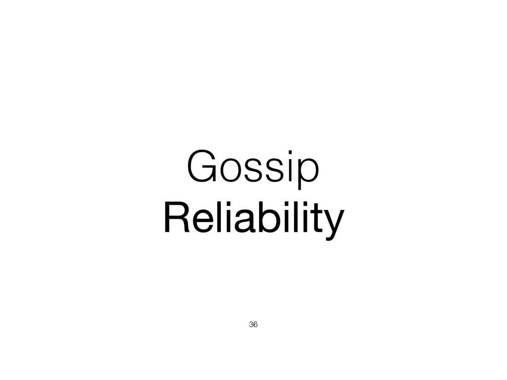 Gossip Reliability 36