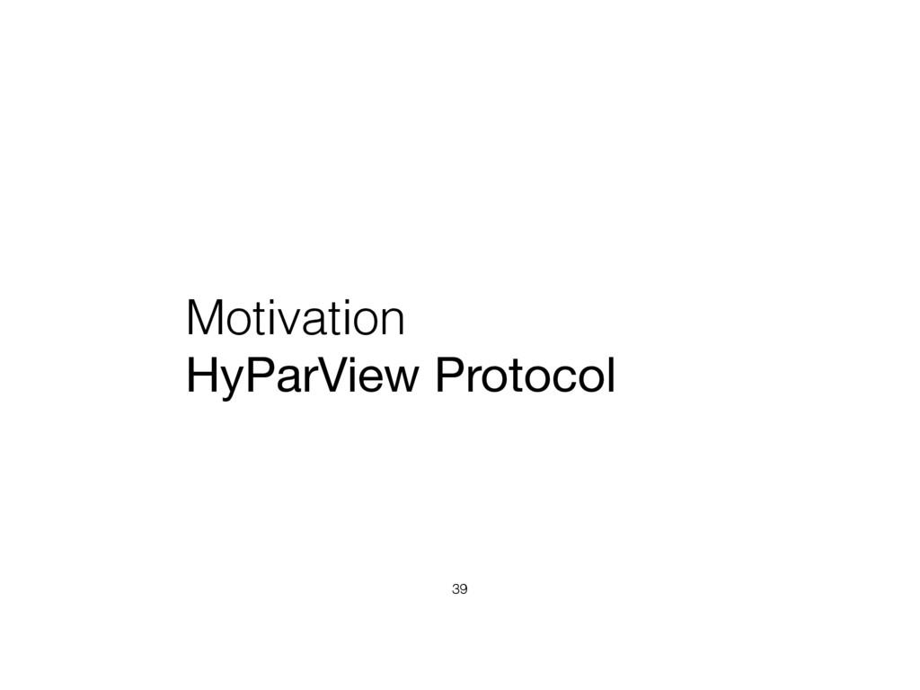 Motivation HyParView Protocol 39