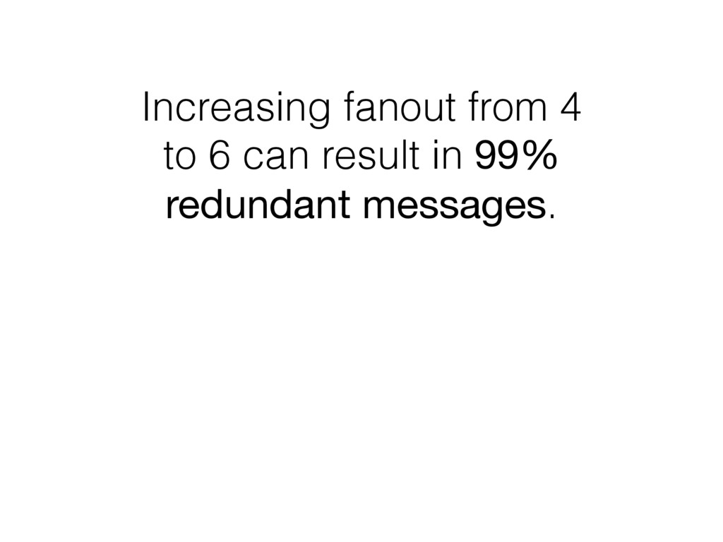 Increasing fanout from 4 to 6 can result in 99%...