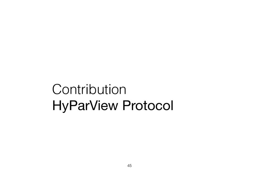 Contribution HyParView Protocol 45