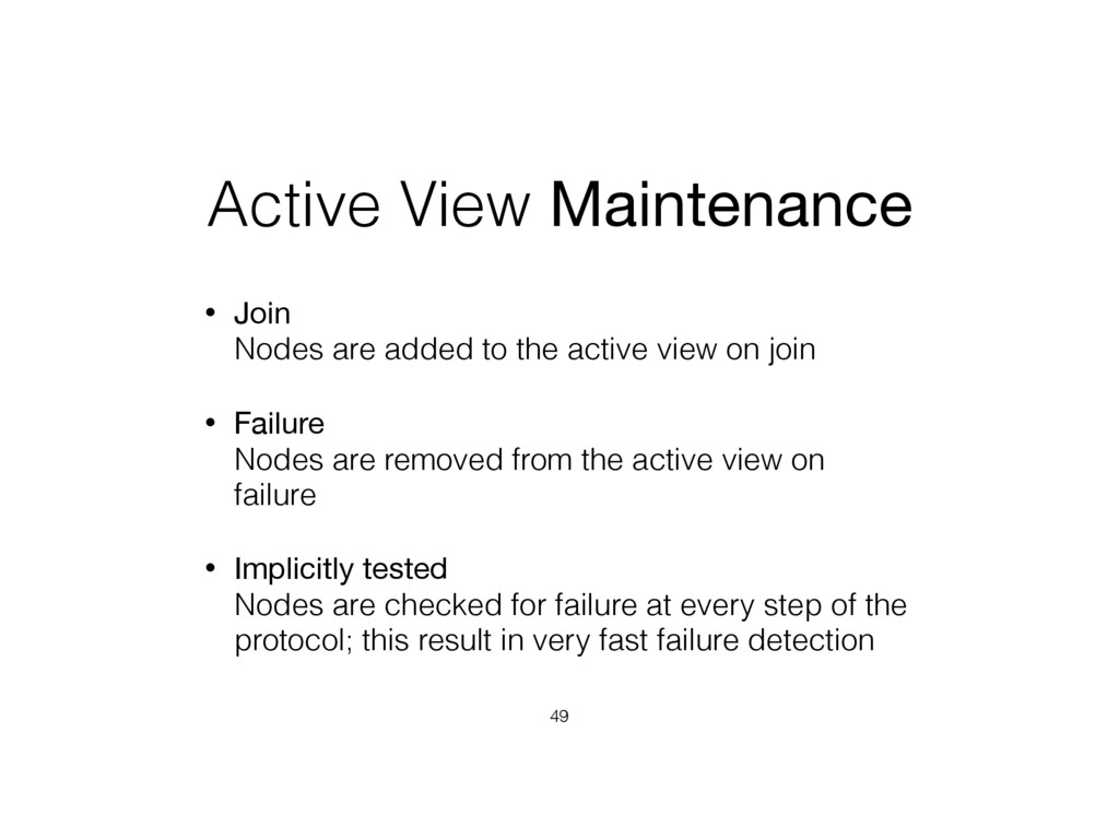 Active View Maintenance • Join Nodes are added...