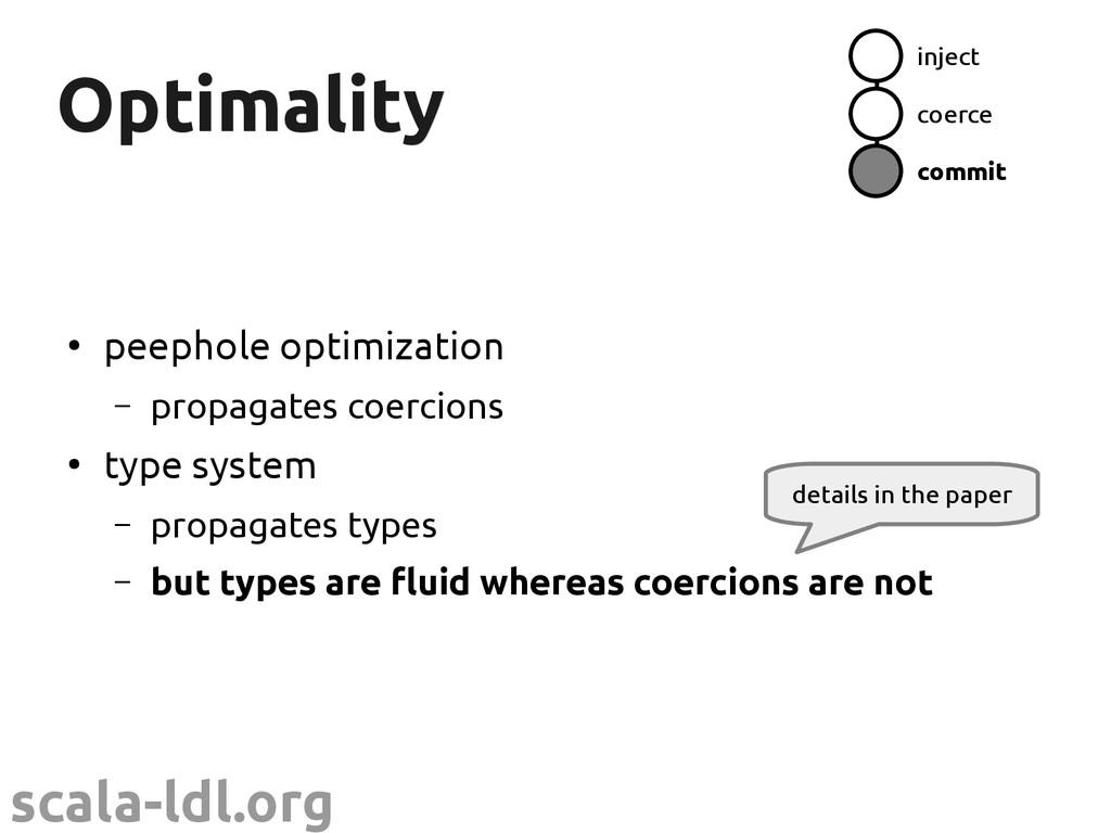 scala-ldl.org Optimality Optimality ● peephole ...