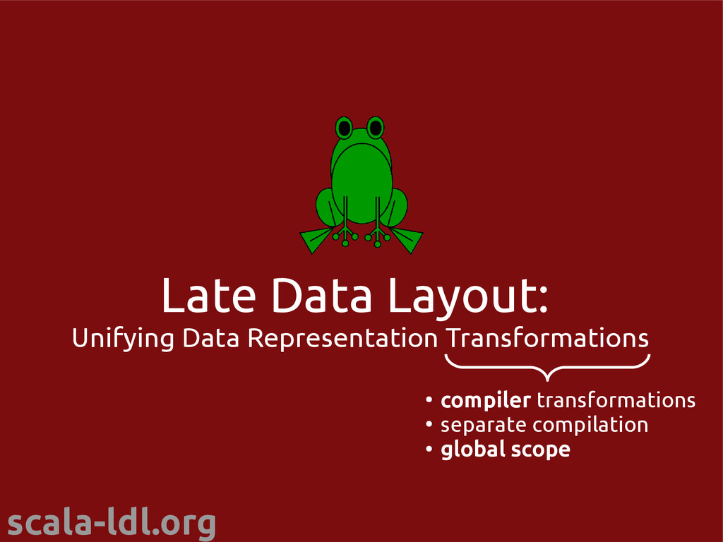 scala-ldl.org Late Data Layout: Unifying Data R...