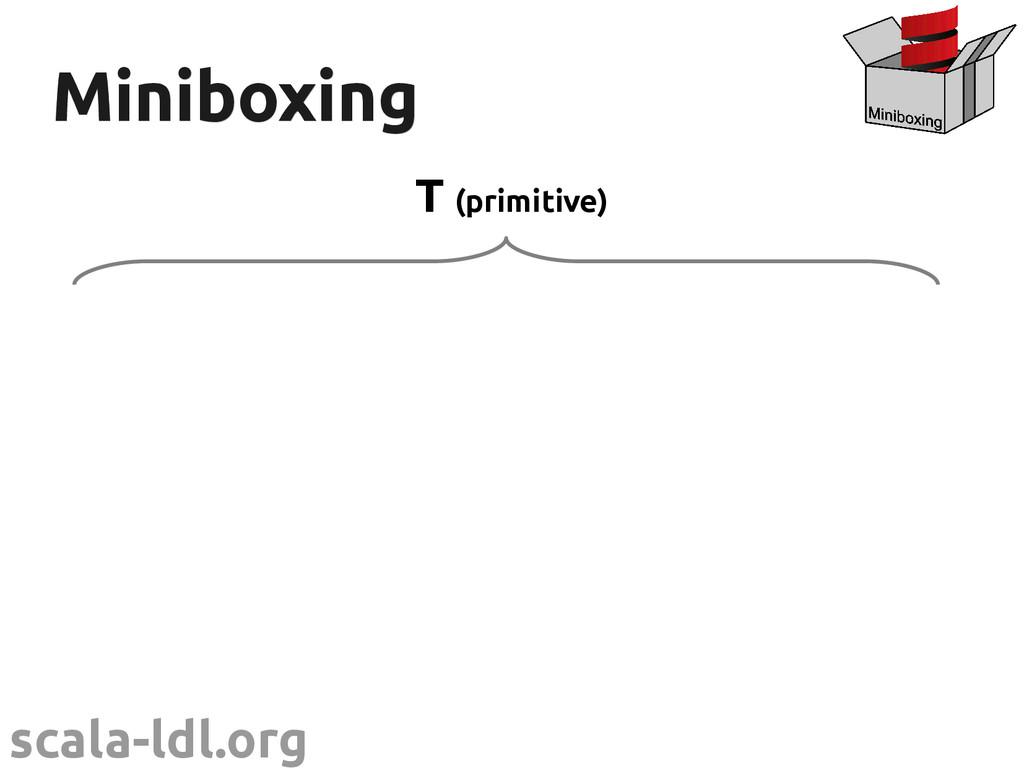scala-ldl.org Miniboxing Miniboxing T (primitiv...