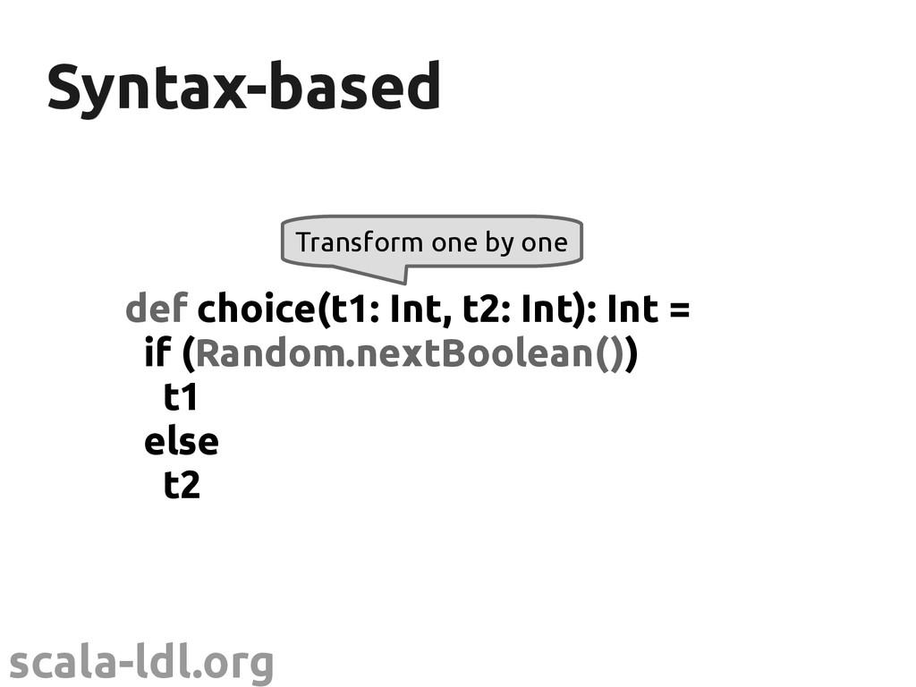 scala-ldl.org Syntax-based Syntax-based def cho...