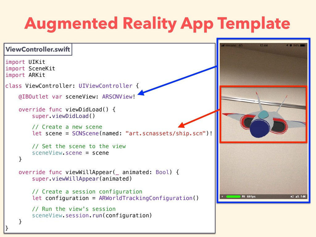 Augmented Reality App Template ViewController.s...