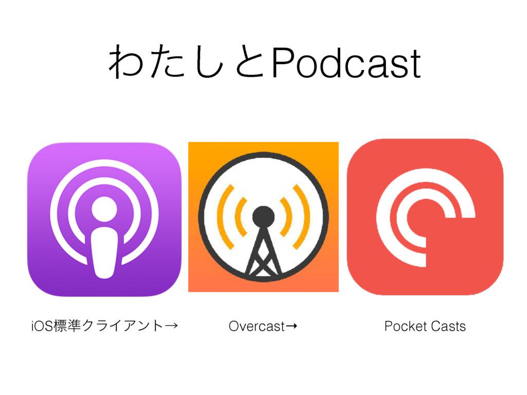 Θͨ͠ͱPodcast iOSඪ४ΫϥΠΞϯτˠ Overcast→ Pocket Casts