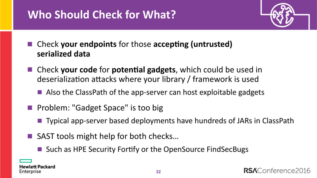 Who Should Check for What? Check your endpoints...