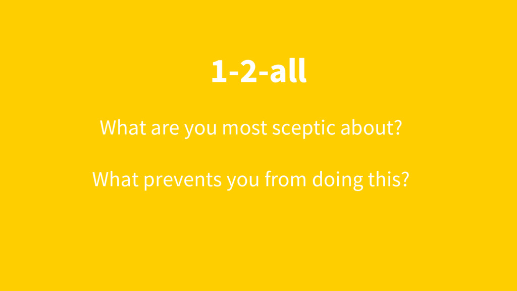 1-2-all What are you most sceptic about? What p...