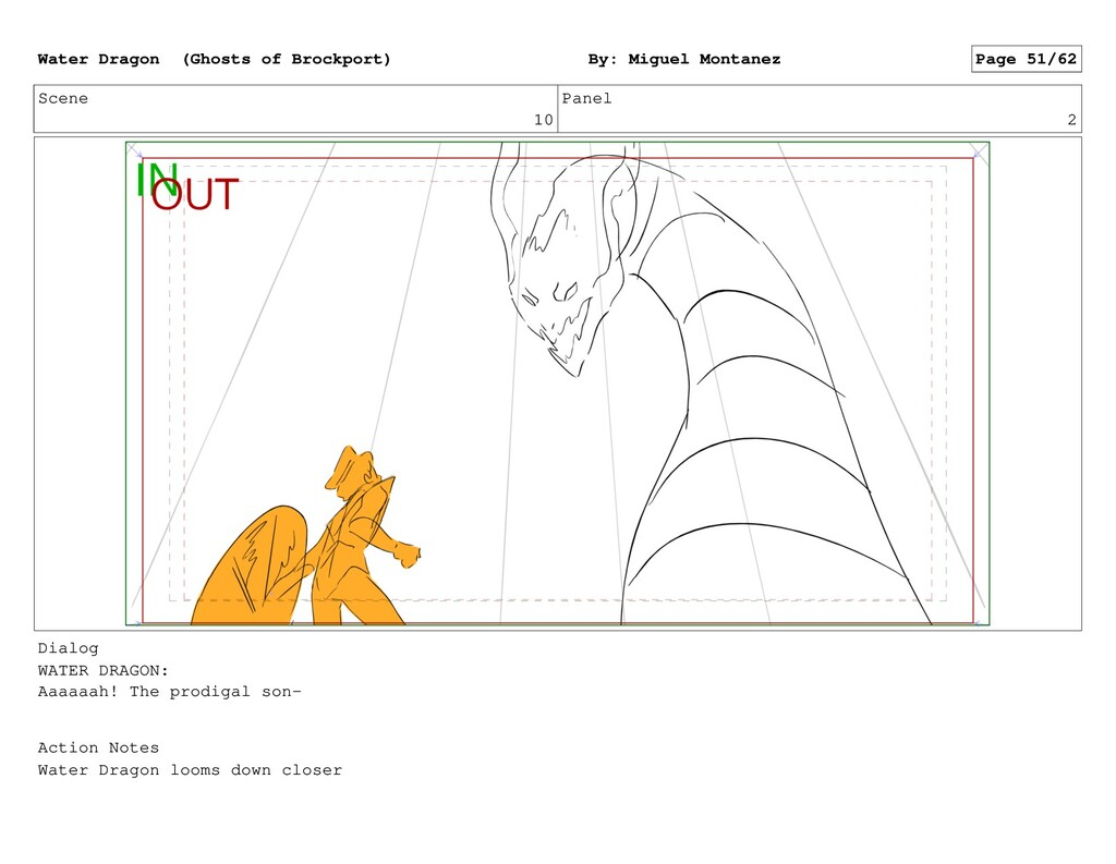 Scene 10 Panel 2 Dialog WATER DRAGON: Aaaaaah! ...
