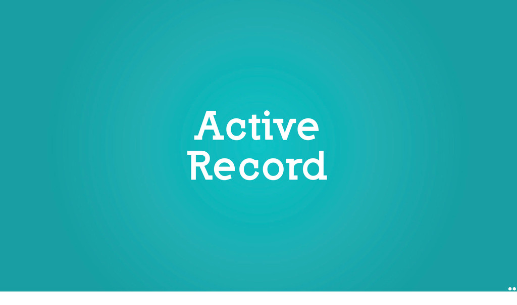 Active Record Active Record