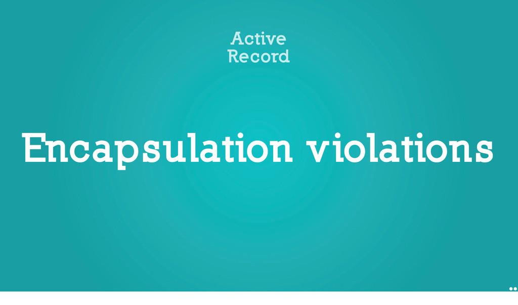 Encapsulation violations Active Record 1 if art...