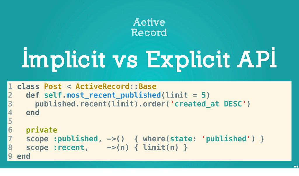 Implicit vs Explicit API Active Record 1 Post.w...