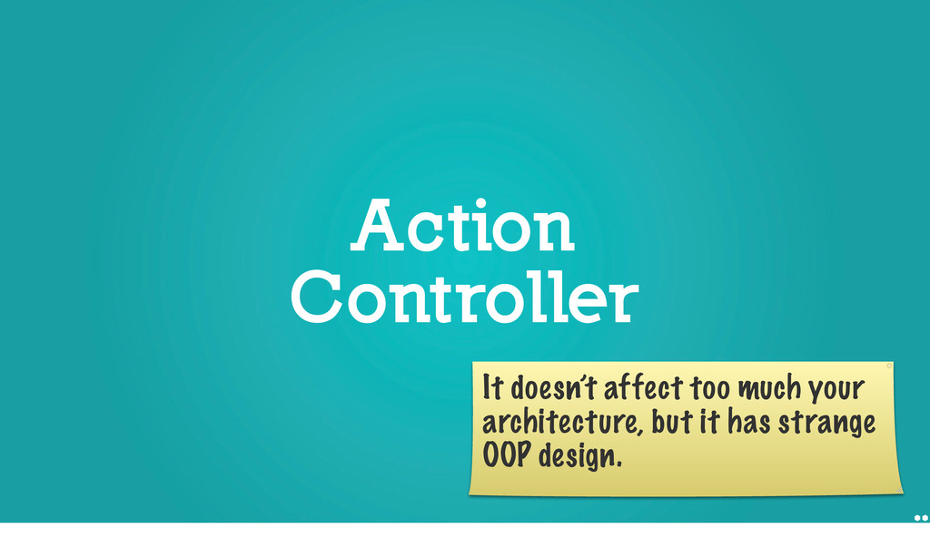 Action Controller Action Controller It doesn't ...