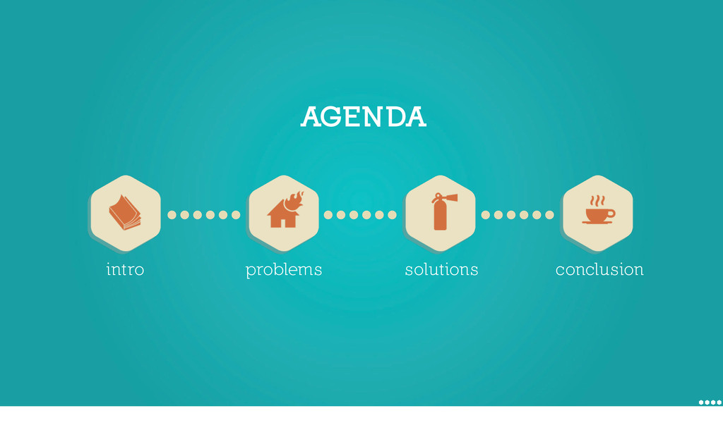AGENDA intro problems solutions conclusion