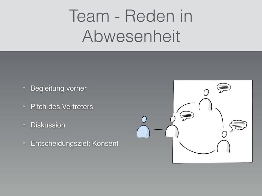 Team - Reden in Abwesenheit • Begleitung vorher...