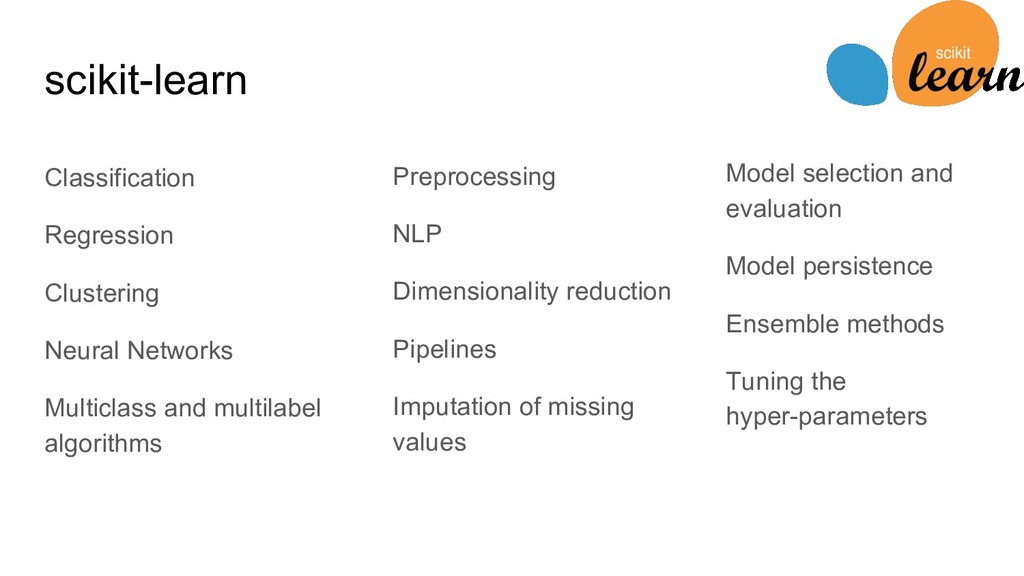 Classification Regression Clustering Neural Net...