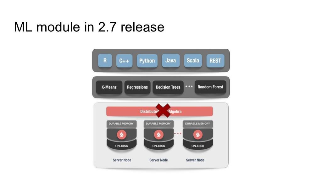 ML module in 2.7 release