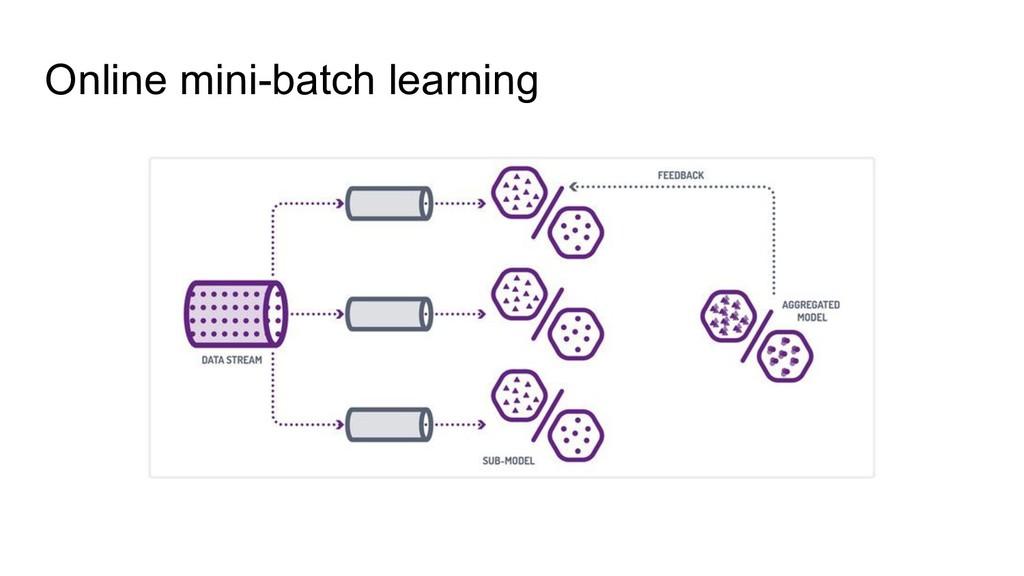 Online mini-batch learning