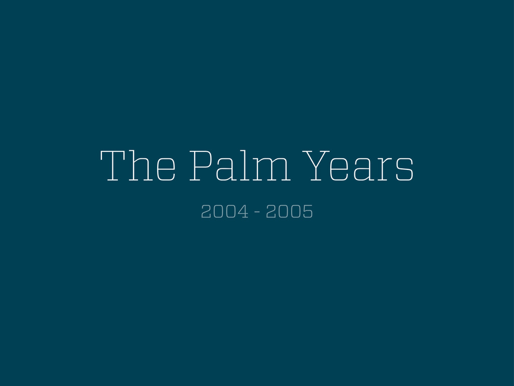 The Palm Years 2004 - 2005