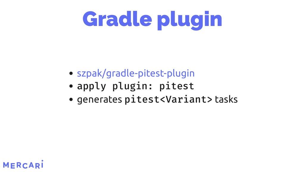 apply plugin: pitest generates pitest<Variant> ...
