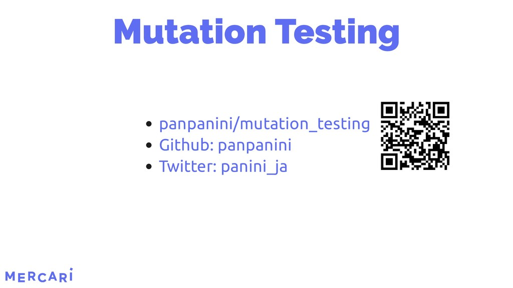 Mutation Testing panpanini/mutation_testing Git...