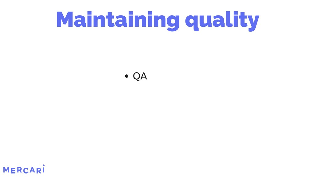 QA Maintaining quality 6/45