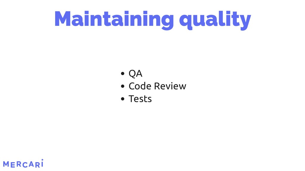 QA Code Review Tests Maintaining quality 6/45