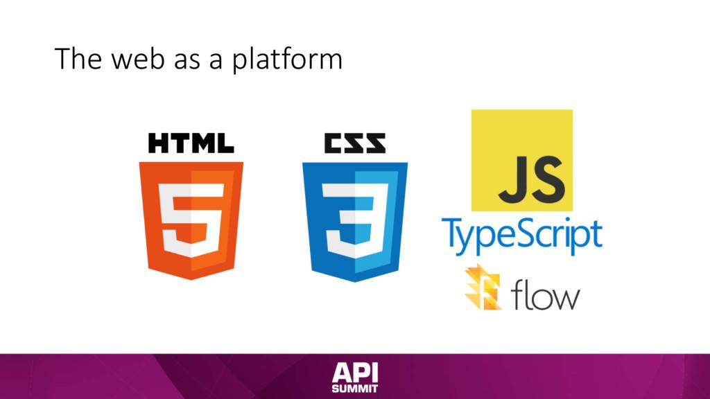 The web as a platform