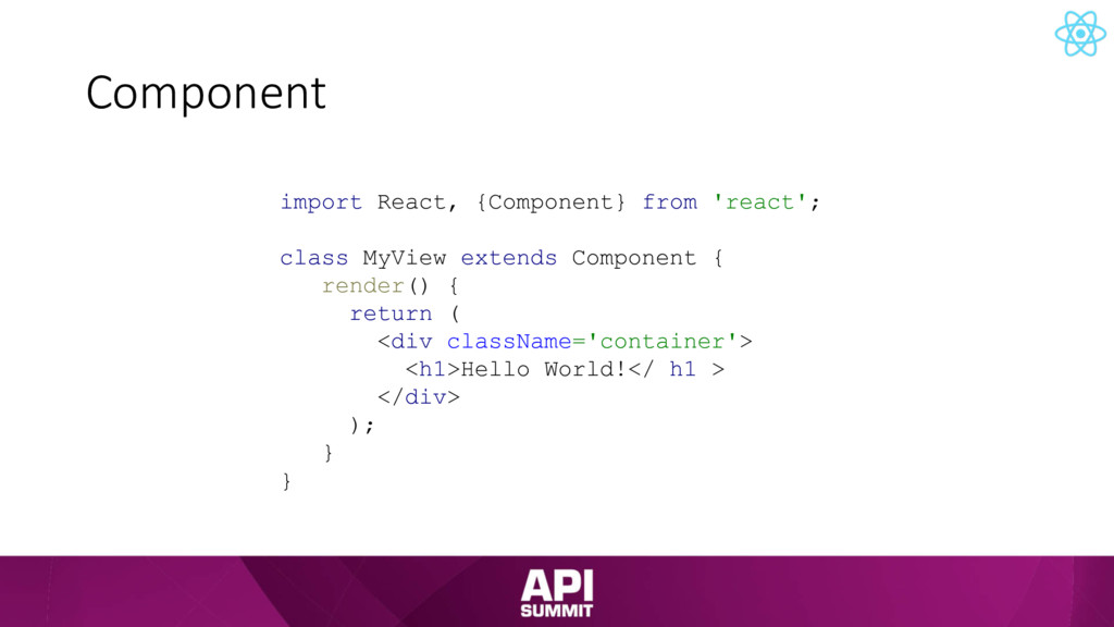 Component import React, {Component} from 'react...
