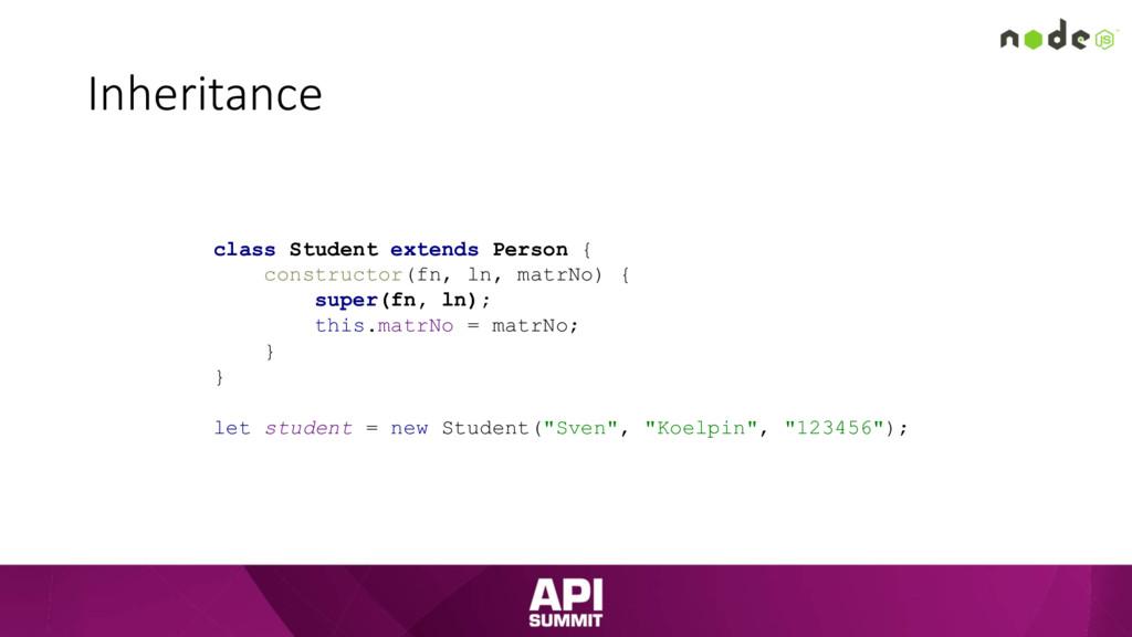Inheritance class Student extends Person { cons...