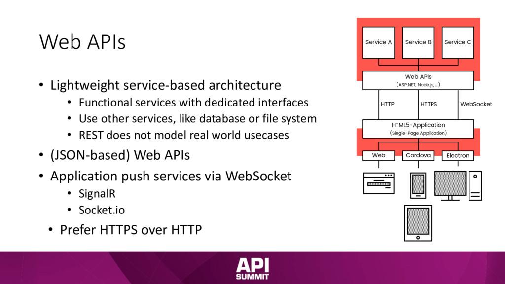 Web APIs • Lightweight service-based architectu...