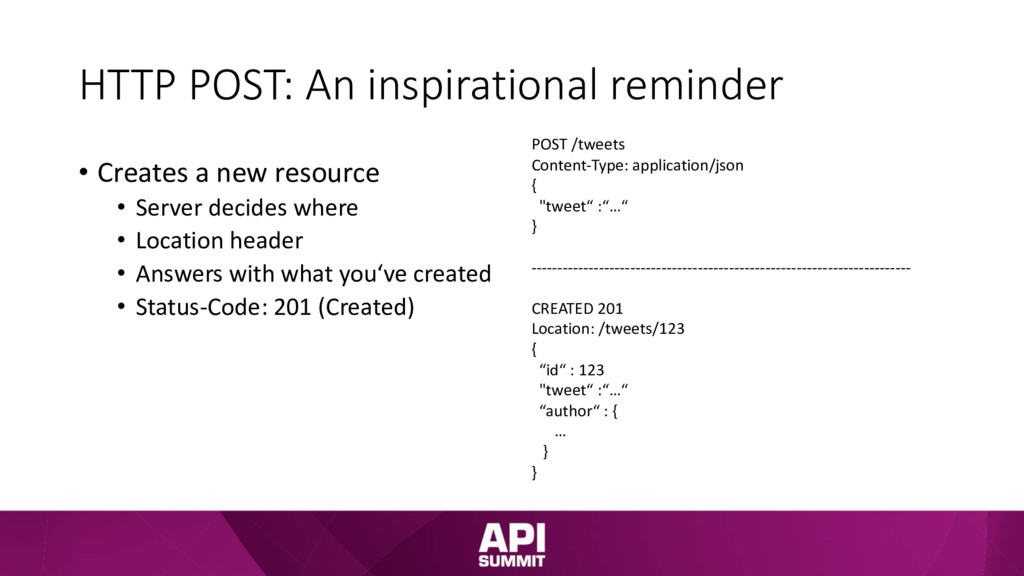 HTTP POST: An inspirational reminder • Creates ...