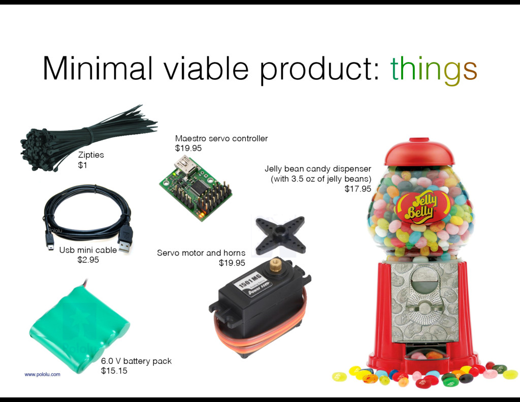 Minimal viable product: things Maestro servo co...