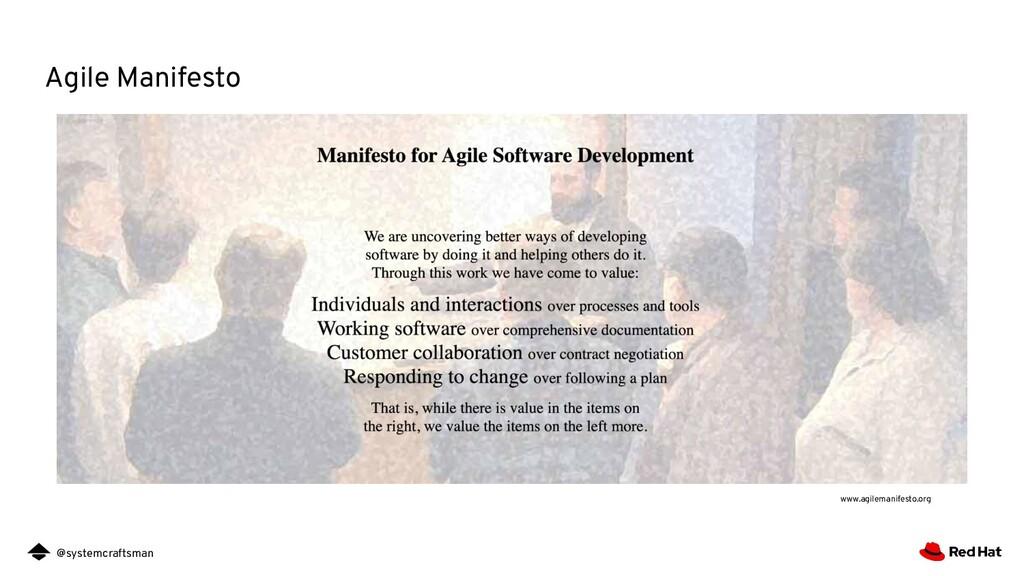 @systemcraftsman Agile Manifesto www.agilemanif...