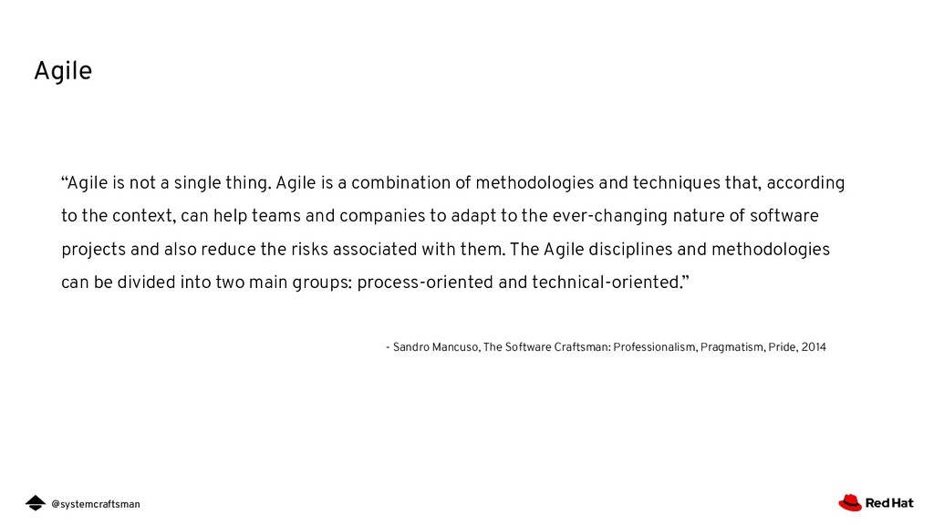 """@systemcraftsman Agile """"Agile is not a single t..."""