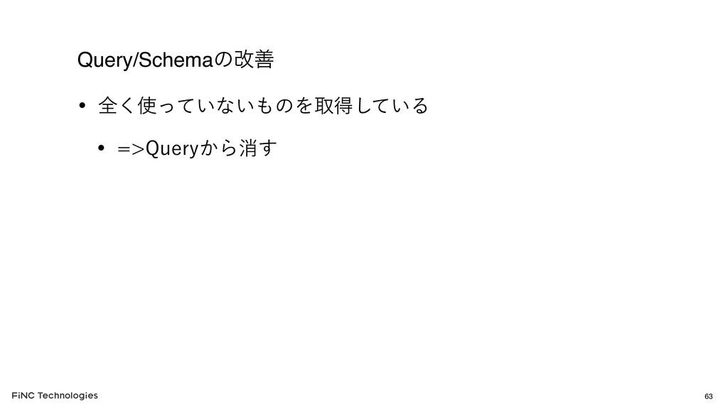 Query/Schemaͷվળ w શ͍ͬͯ͘ͳ͍ͷΛऔಘ͍ͯ͠Δ w 2VFSZ͔...