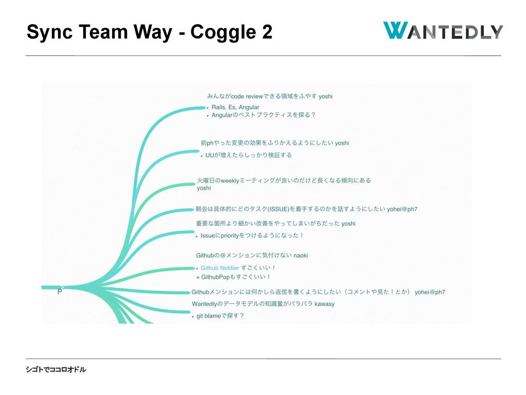 シゴトでココロオドル Sync Team Way - Coggle 2