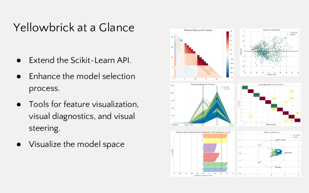 Yellowbrick at a Glance ● Extend the Scikit-Lea...