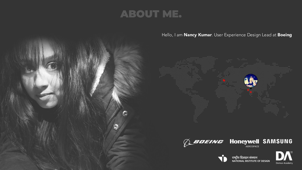 ABOUT ME. Hello, I am Nancy Kumar. User Experie...