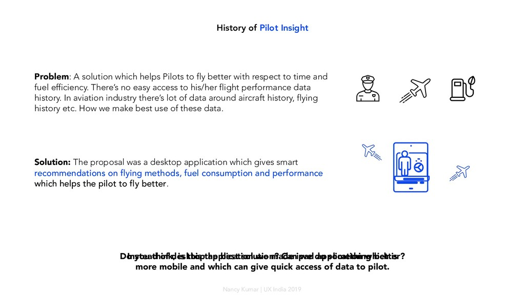 Problem: A solution which helps Pilots to fly b...