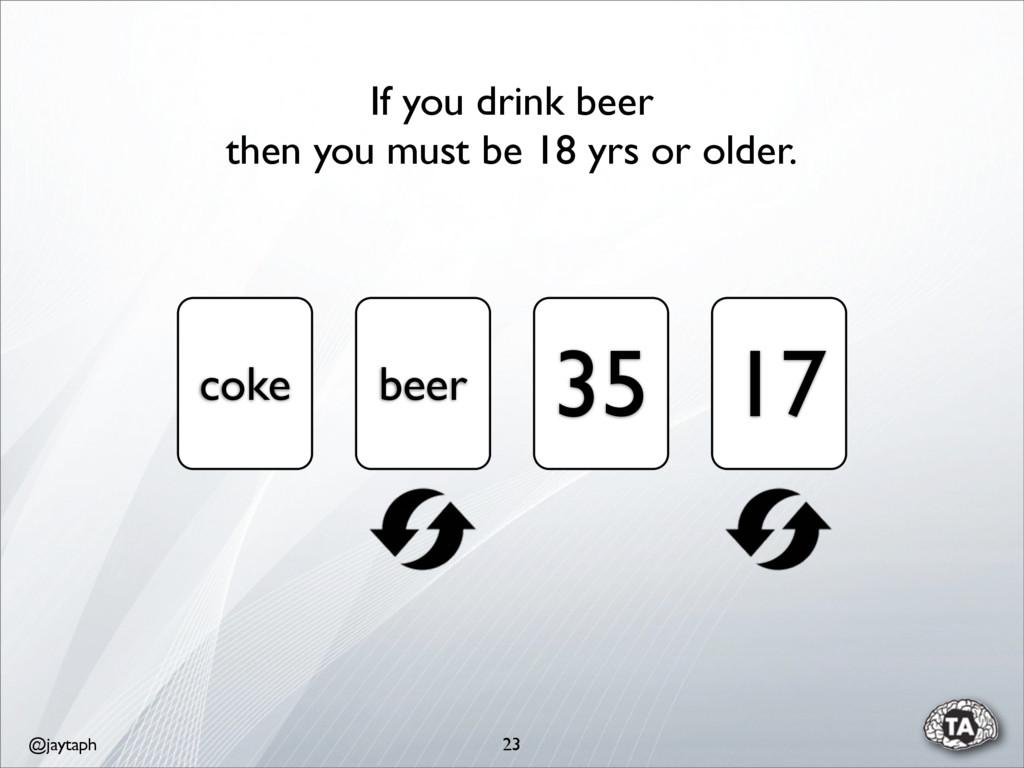 @jaytaph 23 coke beer 35 17 If you drink beer t...