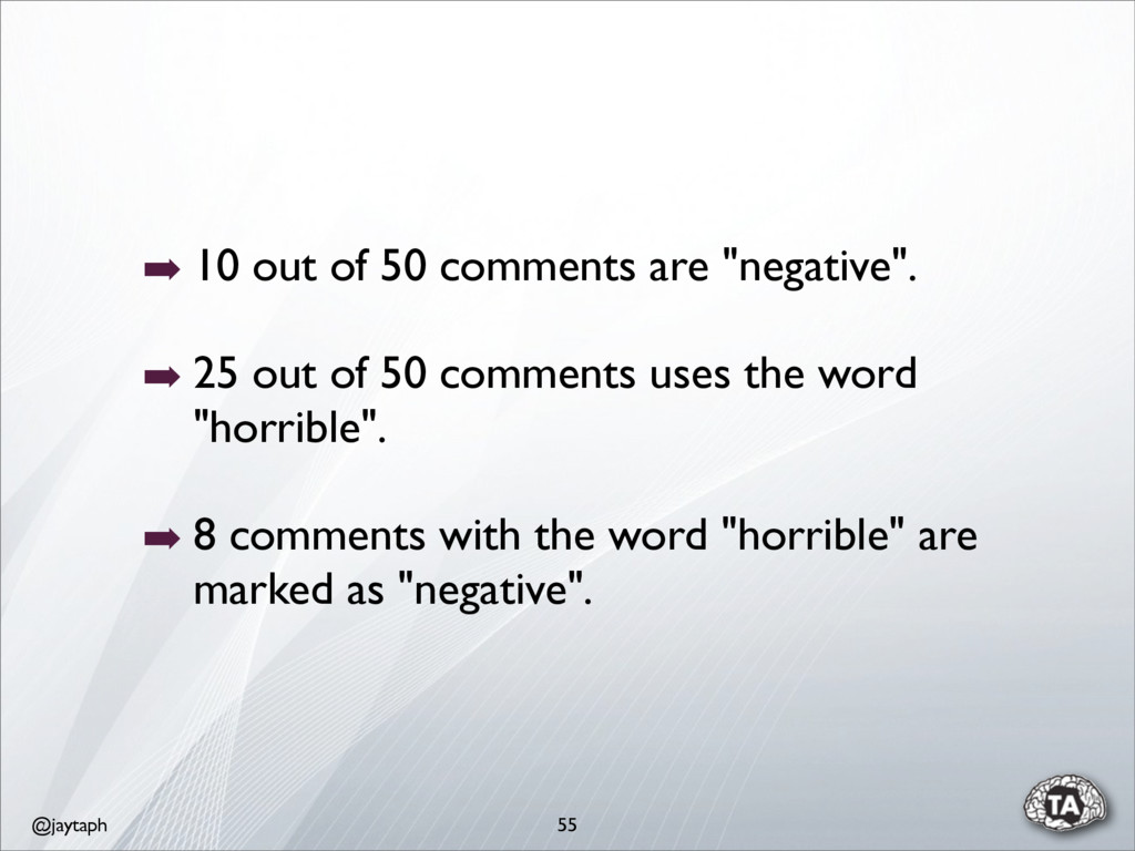 """@jaytaph ➡ 10 out of 50 comments are """"negative""""..."""