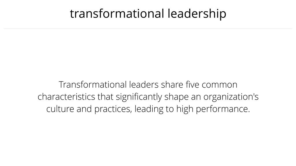 transformational leadership Transformational le...